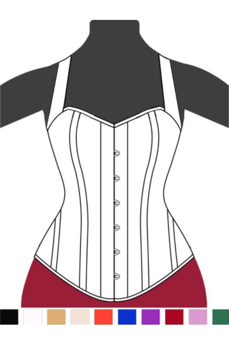 Clasic Victorian Overbust Corset Halter F11128-1 |ABCorsetry UK