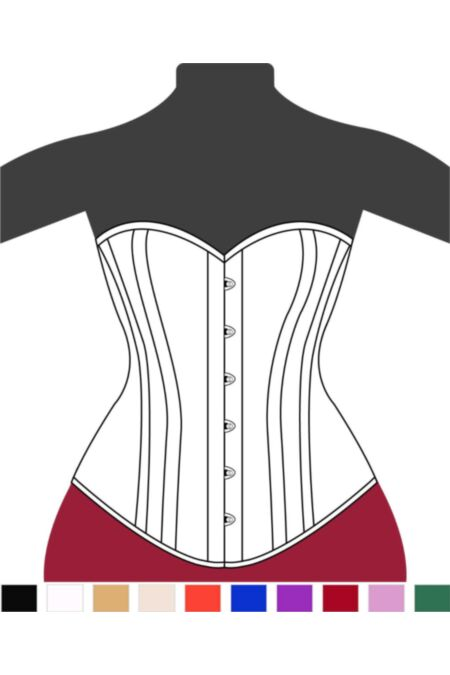 Clasic Victorian Overbust Corset Sweet Heart F11313-1 |ABCorsetry UK