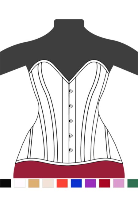 Victorian Hips Overbust Corset Heart F11493-1 |ABCorsetry UK