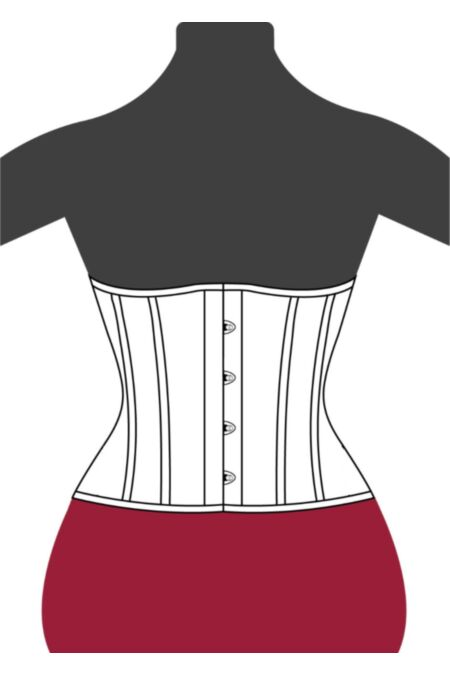 Clasic Victorian Underbust Waist Corset W8806-1 |ABCorsetry UK