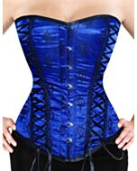 Overbust Corset Blue Netz Satin F8809-FB-1 |ABCorsetry UK