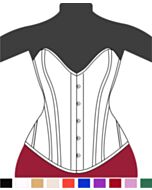 Clasic Victorian Overbust Corset Heart F9949-1 |ABCorsetry UK