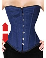Overbust Corset Jeans Blue EXTRA LONG F8809